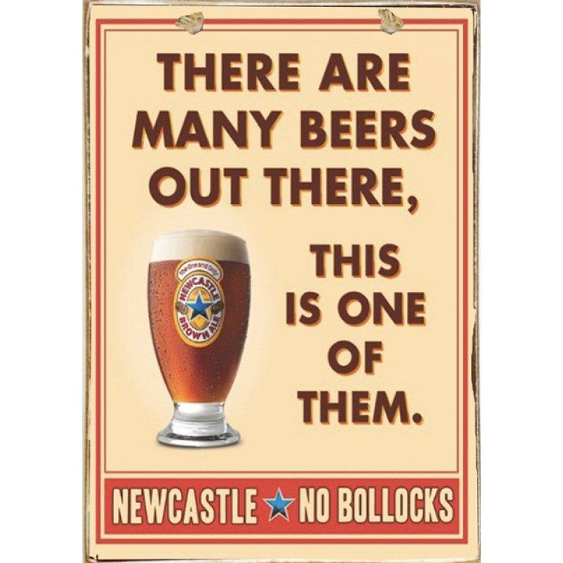 Ρετρό Πίνακας Χειροποίητος Beers 20 x 30
