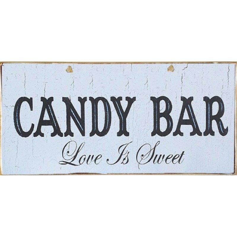 Ρετρό Πίνακας Χειροποίητος Candy Bar 13 x 26 cm