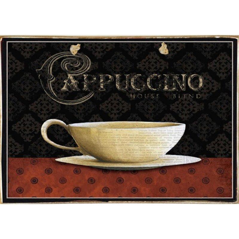Ρετρό Πίνακας Χειροποίητος Cappuccino 30 x 20 cm
