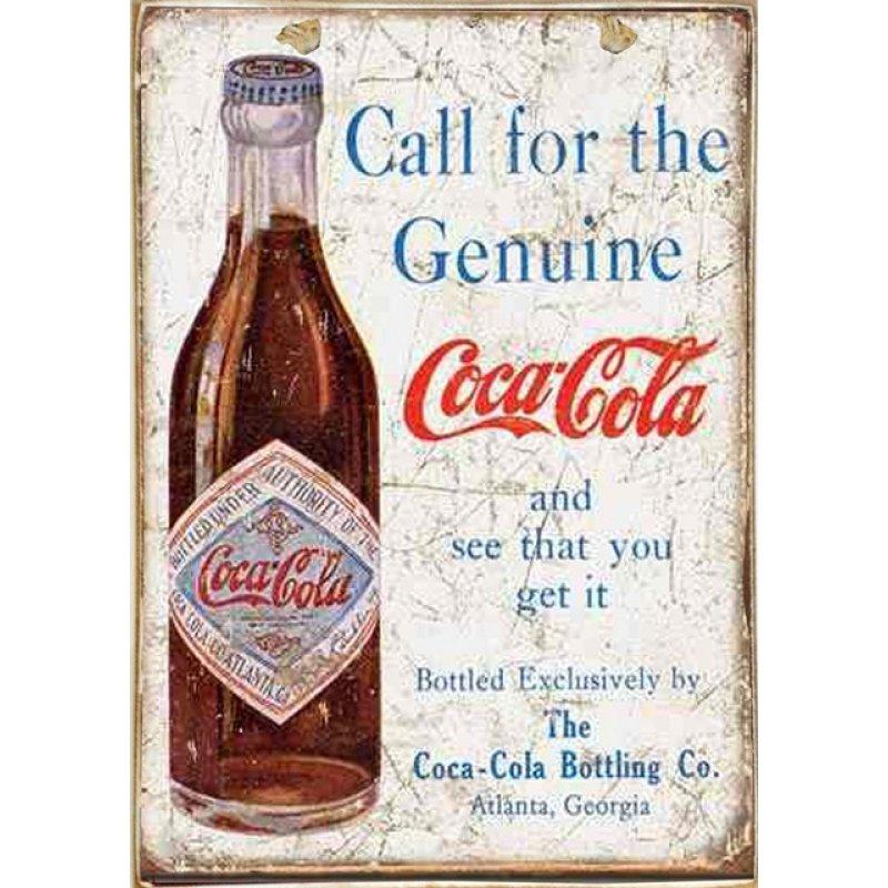 Ρετρό Πίνακας Χειροποίητος Coca Cola 20 x 30 cm