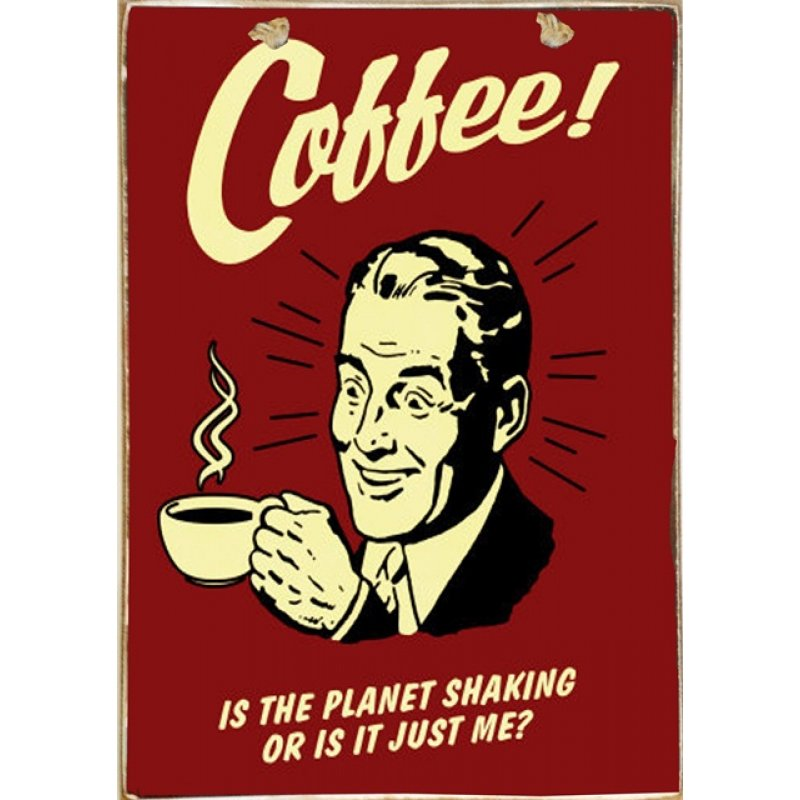 Ρετρό Πίνακας Χειροποίητος Coffee 20 x 30 cm