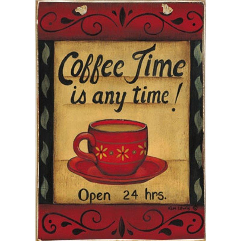 Ρετρό Πίνακας Χειροποίητος Coffee Time 20 x 30 cm