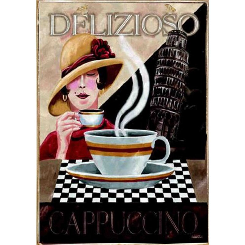 Ρετρό Πίνακας Χειροποίητος  Delizioso 20 x 30 cm