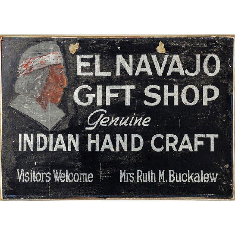 Ρετρό Πίνακας Χειροποίητος El Navajo Gift Shop 30 x 20 cm