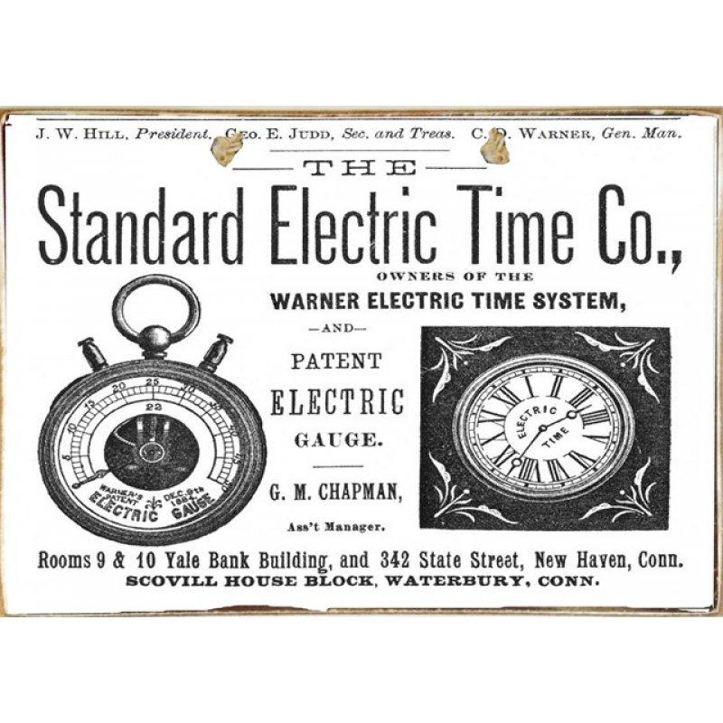 Ρετρό Πίνακας Χειροποίητος Electric time 30 x 20 cm
