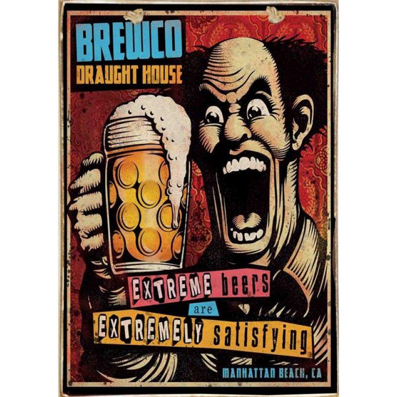 Ρετρό Πίνακας Χειροποίητος Extreme Beers 20 x 30 cm