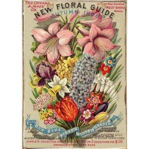 Ρετρό Πίνακας Χειροποίητος Fleurs 20 x 30 cm