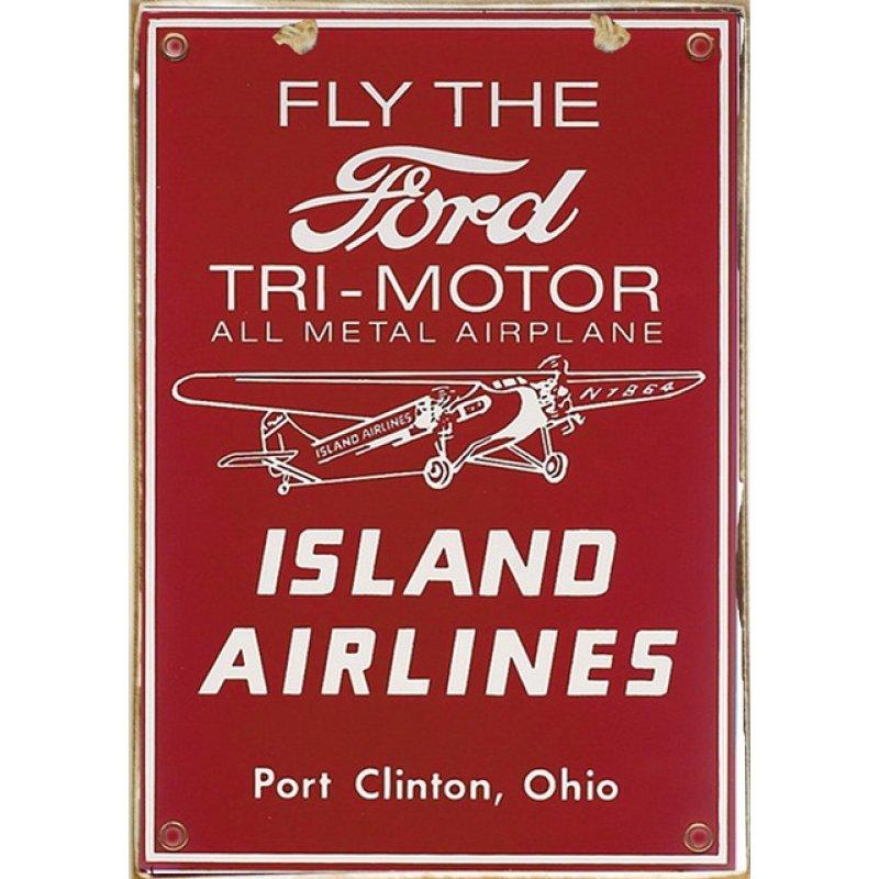 Ρετρό Πίνακας Χειροποίητος Ford Airplane 20 x 30 cm