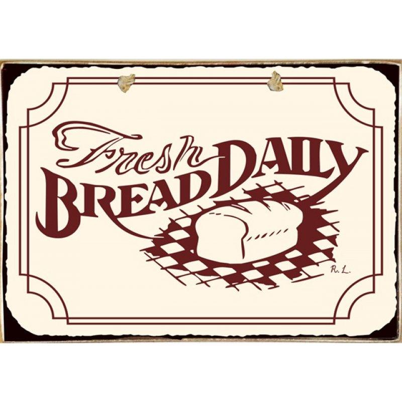 Ρετρό Πίνακας Χειροποίητος Fresh Bread 30 x 20 cm