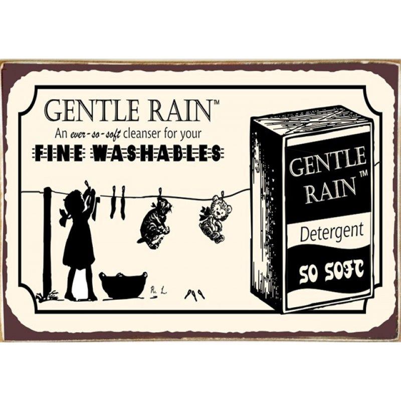 Ρετρό Πίνακας Χειροποίητος Gentle Rain 30 x 20 cm