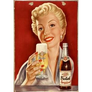 Ρετρό Πίνακας Χειροποίητος Grolsch Beer 20 x 30 cm
