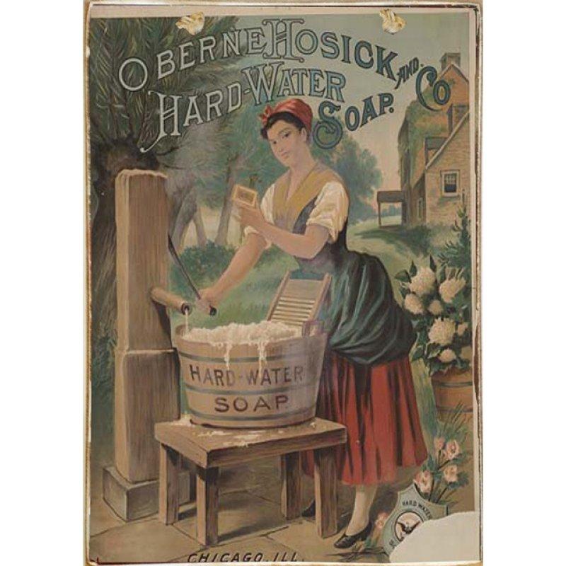 Ρετρό Πίνακας Χειροποίητος Hard Water Soap 20 x 30 cm
