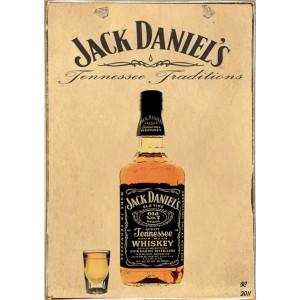 Ρετρό Πίνακας Χειροποίητος Jack Daniels 20 x 30 cm