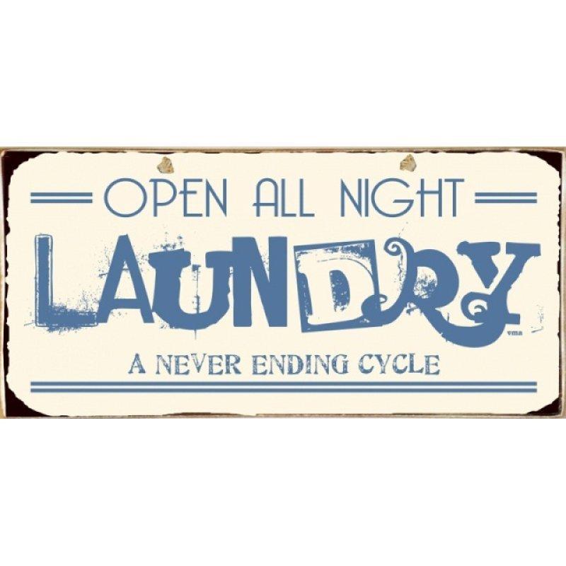 Ρετρό Πίνακας Χειροποίητος Laundry 13 x 26 cm