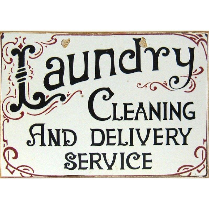 Ρετρό Πίνακας Χειροποίητος Laundry 30 x 20 cm