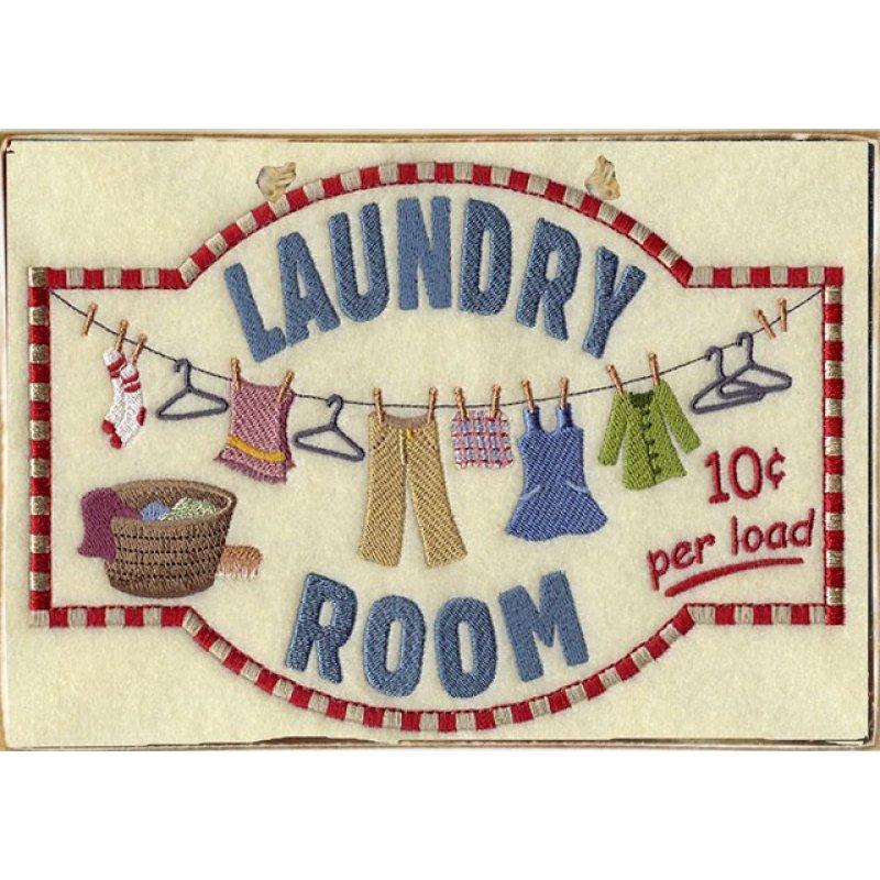 Ρετρό Πίνακας Χειροποίητος Laundry Room 30 x 20 cm
