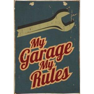 Ρετρό Πίνακας Χειροποίητος My Garage 20 x 30 cm
