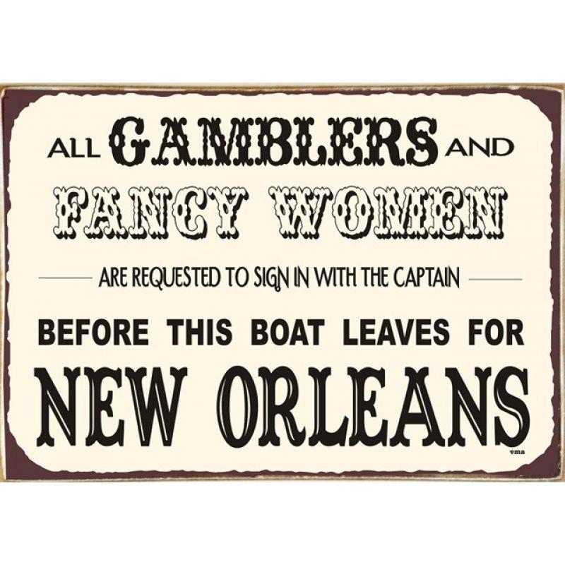 Ρετρό Πίνακας Χειροποίητος New Orleans 30 x 20 cm