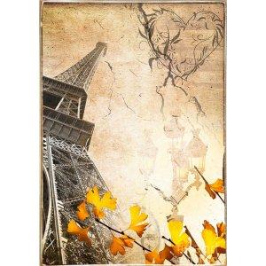 Ρετρό Πίνακας Χειροποίητος Paris 20 x 30 cm