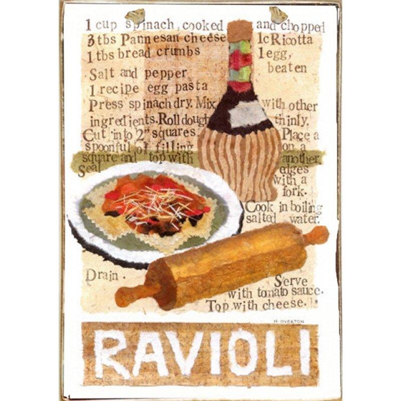 Ρετρό Πίνακας Χειροποίητος Ravioli 20 x 30 cm