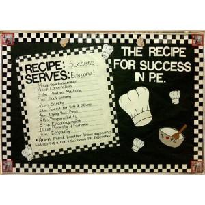 Ρετρό Πίνακας Χειροποίητος Recipe for Success 30 x 20 cm