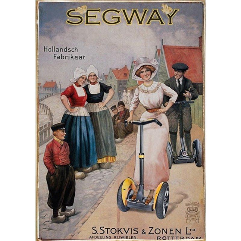 Ρετρό Πίνακας Χειροποίητος Segway 20 x 30 cm