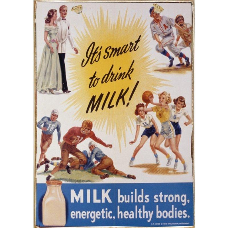 Ρετρό Πίνακας Χειροποίητος Smart to drink milk 20 x 30 cm