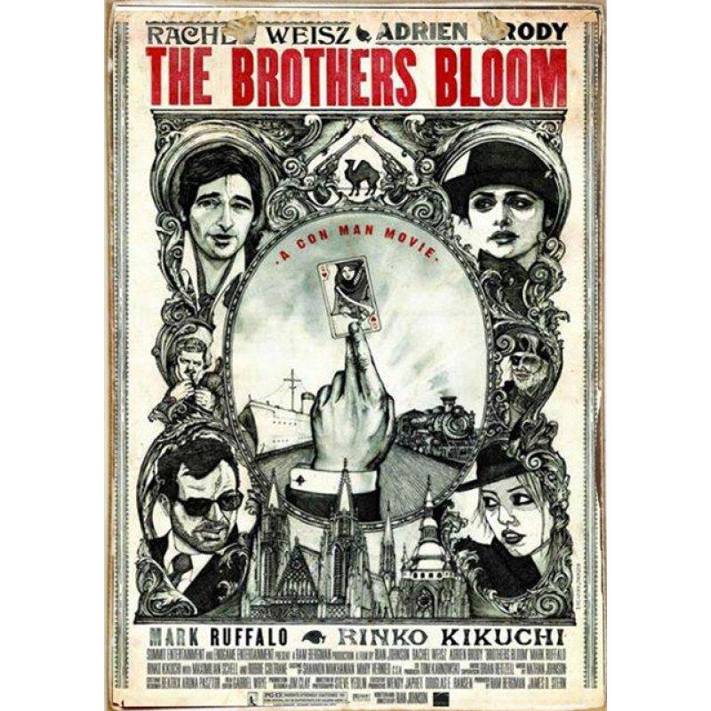 Ρετρό Πίνακας Χειροποίητος The Brothers Bloom  20 x 30 cm