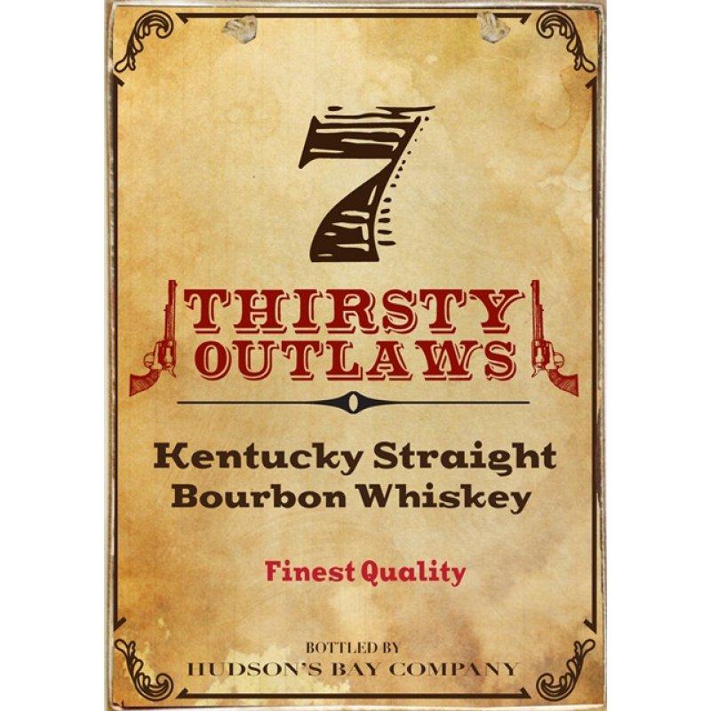 Ρετρό Πίνακας Χειροποίητος Thirsty Outlaws 20 x 30 cm
