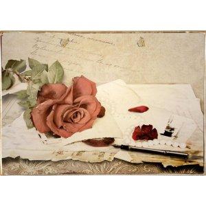 Ρετρό Πίνακας Χειροποίητος Vintage 30 x 20 cm