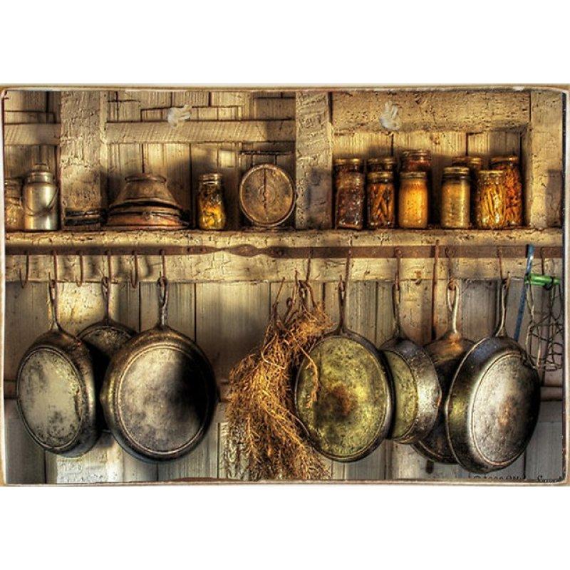 Ρετρό Πίνακας Χειροποίητος Vintage Kitchen 30 x 20 cm