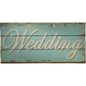 Ρετρό Πίνακας Χειροποίητος Wedding 13 x 26 cm