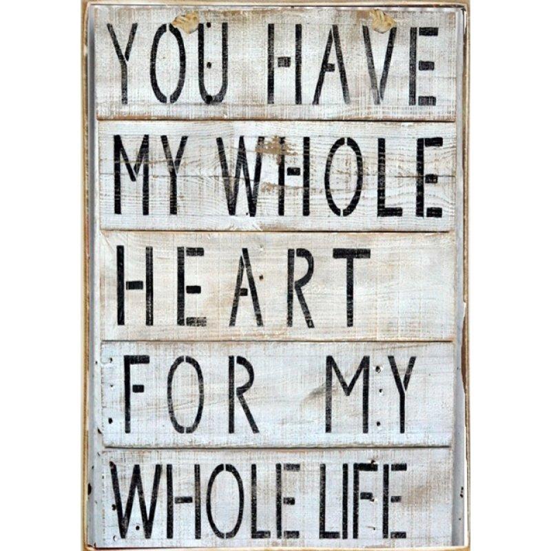 Ρετρό Πίνακας Χειροποίητος You have my heart 20 x 30 cm