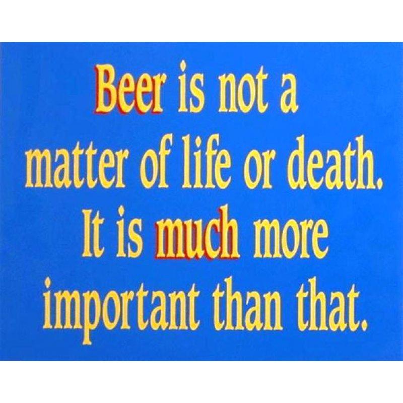 Ρετρό χιουμοριστικός πίνακας 'Beer is important'
