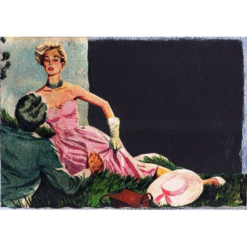 Romance - Χειροποίητος Μαυροπίνακας 20X30 εκατοστά