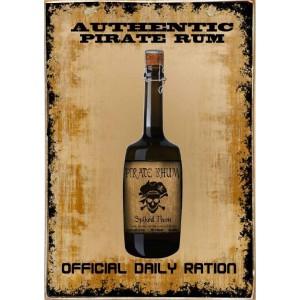 Rum -Ξύλινος  Πίνακας Χειροποίητος 20 x 30 cm