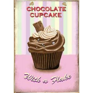Sign Πίνακας Χειροποίητος Chocolate Cupcake 21cm X 30cm