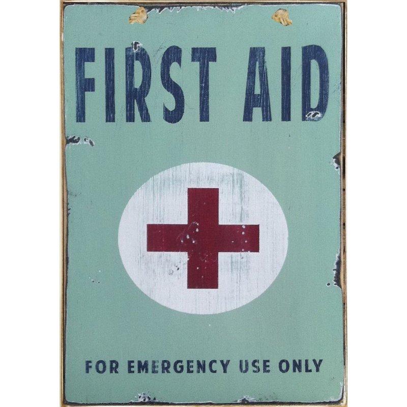 Sign Πίνακας Χειροποίητος First Aid Kit    21cm X 30cm