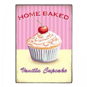 Sign Πίνακας Χειροποίητος Home Baked Cupcakes 21cm X 30cm