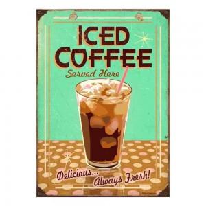 Sign Πίνακας Χειροποίητος Iced Coffee  21cm X 30cm