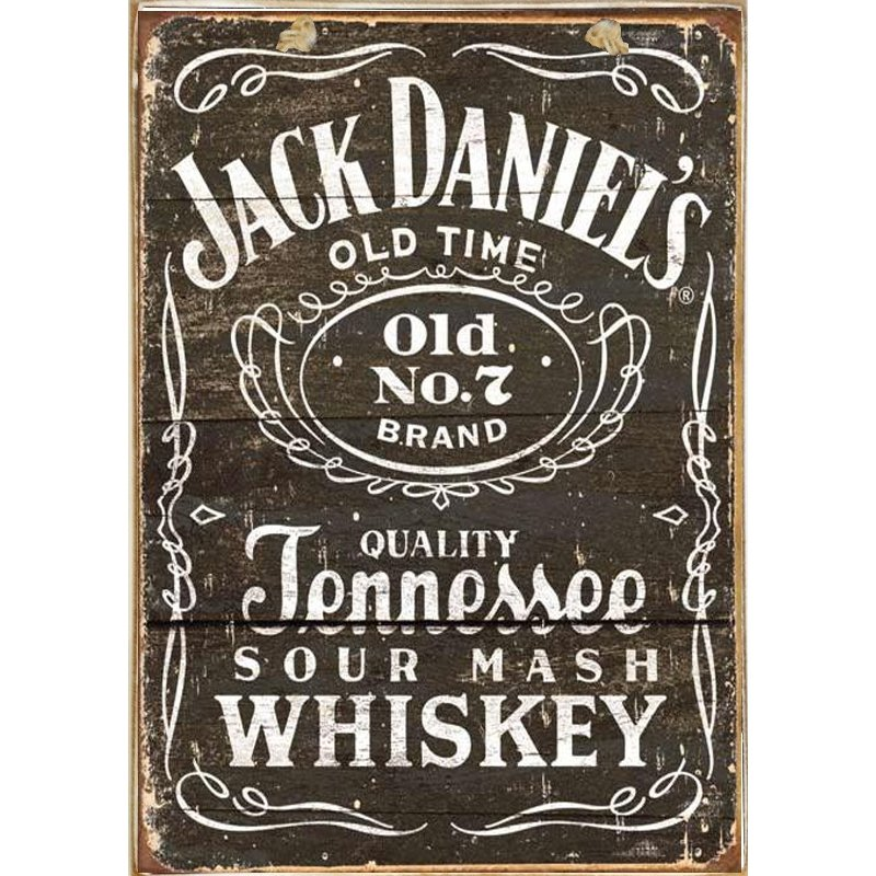 Sign Πίνακας Χειροποίητος Jack Daniels 21cm X 30cm