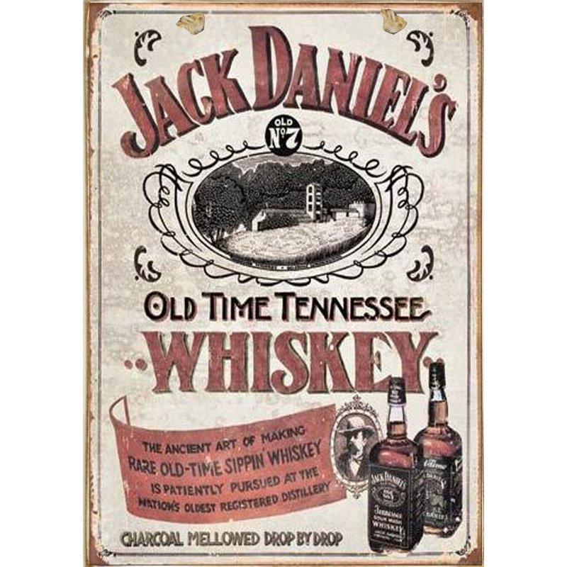 Sign Πίνακας Χειροποίητος Jack Daniels Διαφήμιση   21cm X 30cm