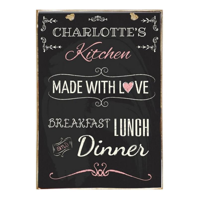 Sign Πίνακας Χειροποίητος Kitchen Μade With Love  21cm X 30cm