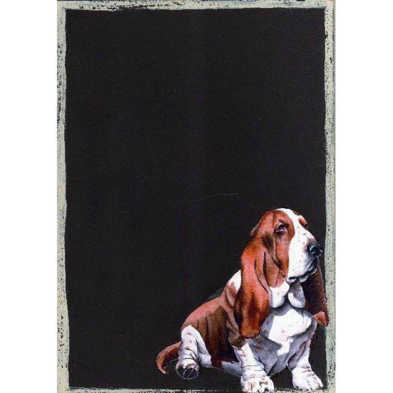 Σκυλάκος - Χειροποίητος Μαυροπίνακας 20X30 εκατοστά