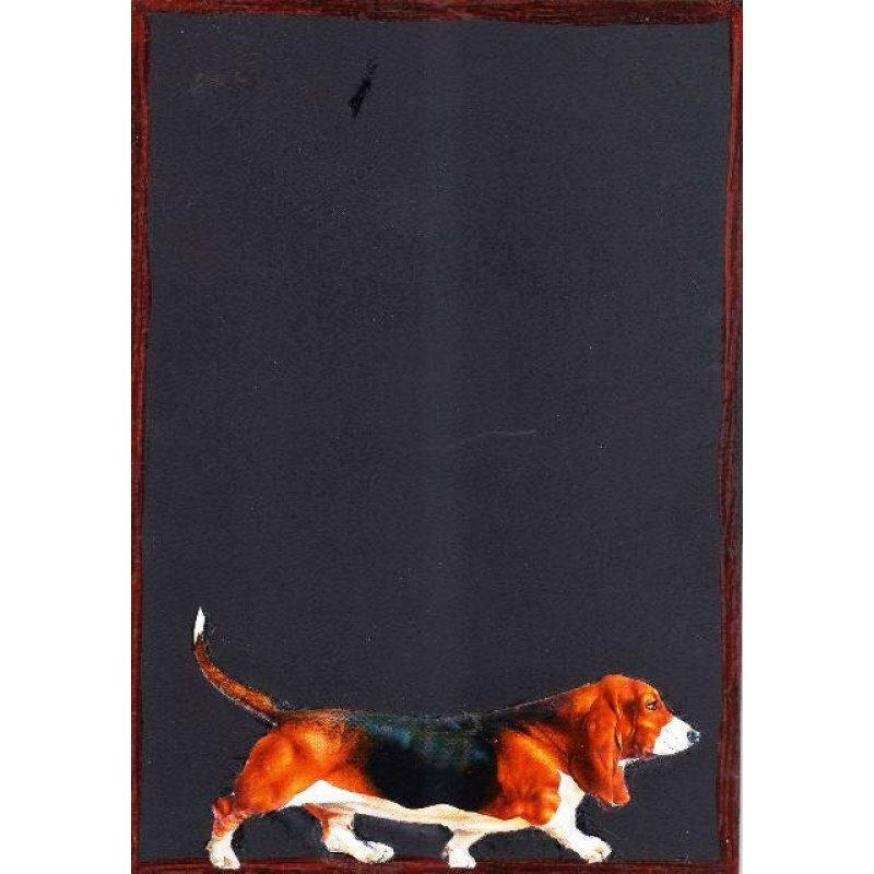 Σκύλος λουκάνικο - Χειροποίητος Μαυροπίνακας 20X30 εκατοστά