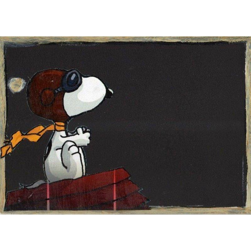 Snoopy - Χειροποίητος Μαυροπίνακας 20X30 εκατοστά
