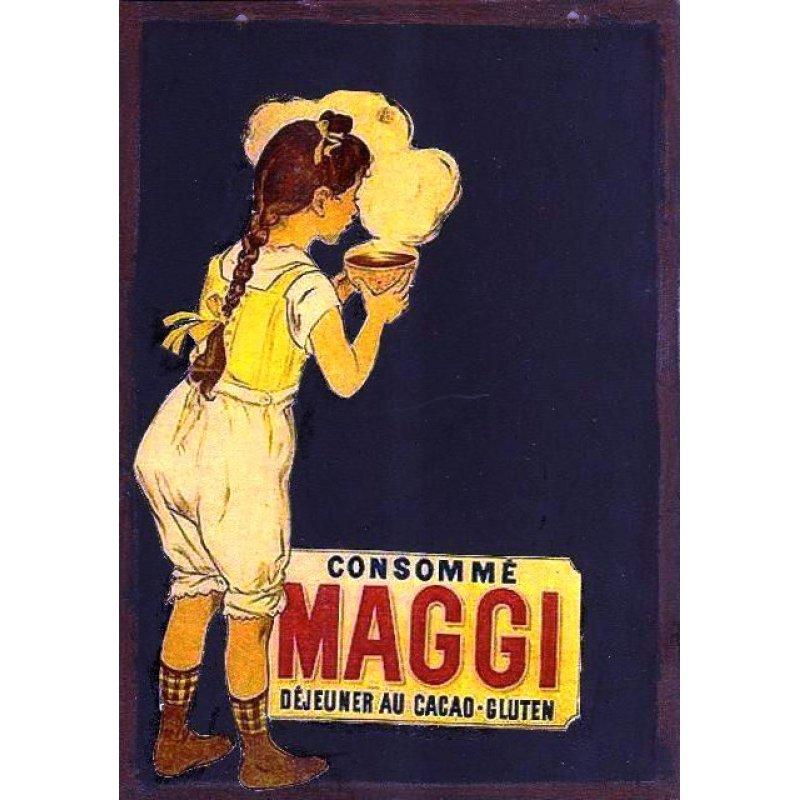 Σούπες maggi - Χειροποίητος Μαυροπίνακας 20X30 εκατοστά