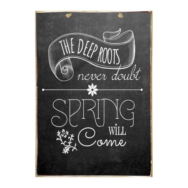 Spring - Ξύλινος Πίνακας Μαύροπίνακας 20 x 30 cm