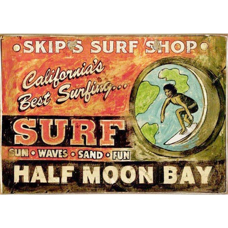 Surf Ξύλινος Vintage Πίνακας 20 x 30 cm