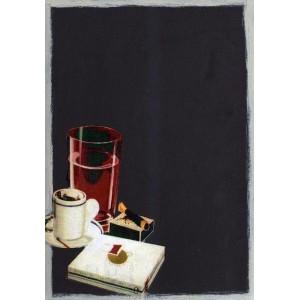 Το καφεδάκι - Χειροποίητος Μαυροπίνακας 20X30 εκατοστά
